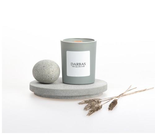 """Sojų vaško žvakė """"DARBAS"""", 90ml"""