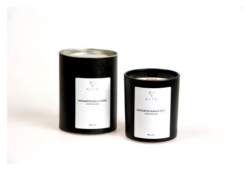 """Sojų vaško žvakė """"Sandalwood & Black pepper"""", 300ml"""