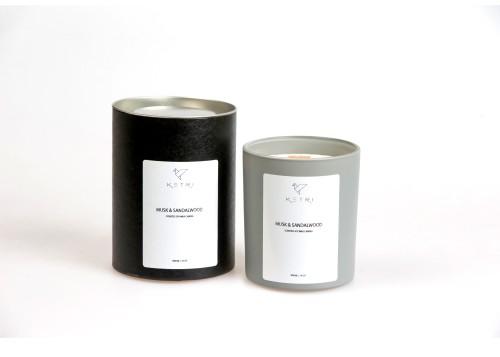 "Sojų vaško žvakė ""Musk & Sandalwood"", 300ml"